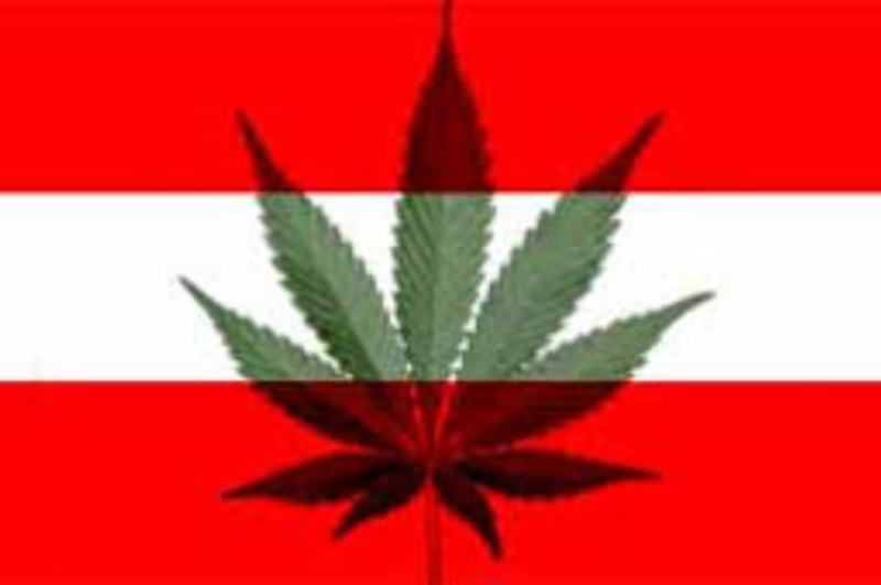 bandiera austriaca e cannabis