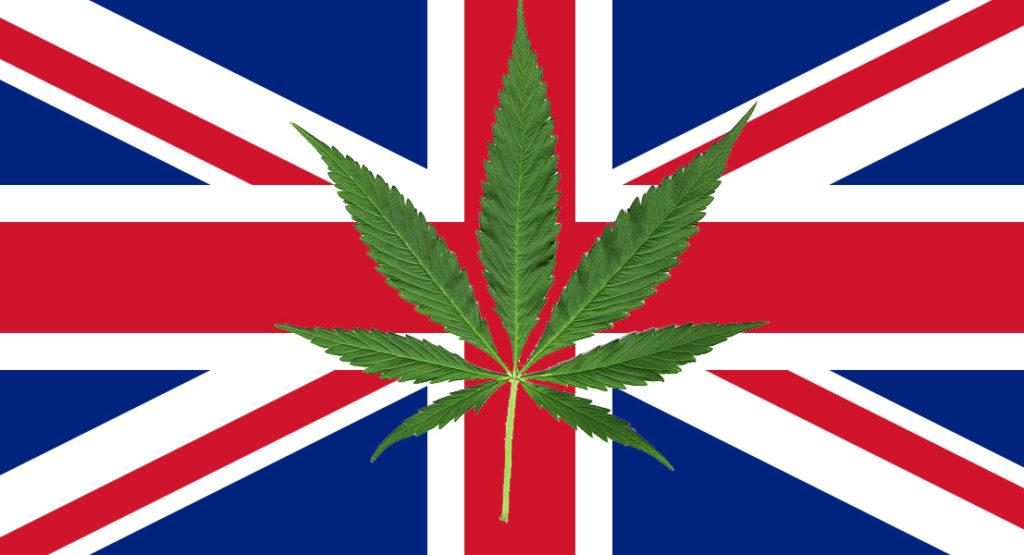 bandiera inglese e cannabis